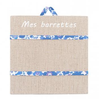Porte barrettes liberty betsy bleu