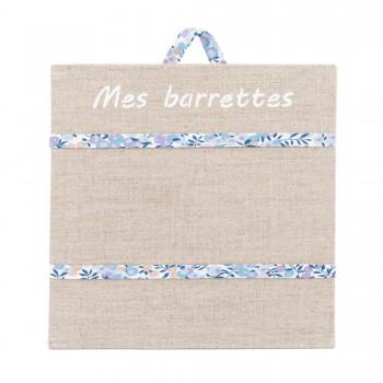 Porte barrettes liberty whiltshire bleu