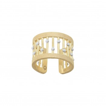 Bague OLIVE Email Blanc