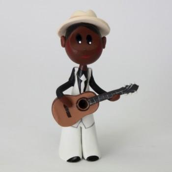 jazz man noir guitariste