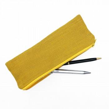 Trousse lin et Jouy jaune