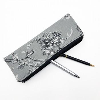 Trousse à crayons jouy noire