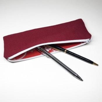 Trousse à crayon rouge
