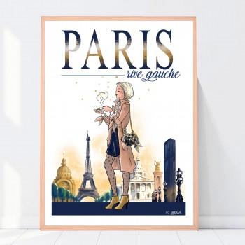 Affiche Paris Rive gauche